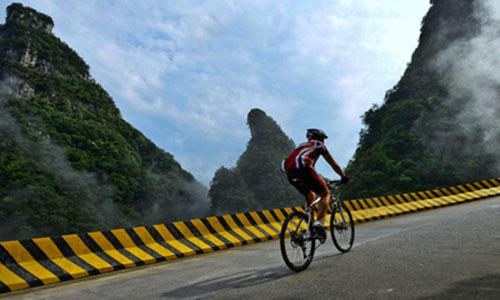 2015张家界天门山自行车比赛
