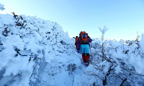 雪走清凉峰活动